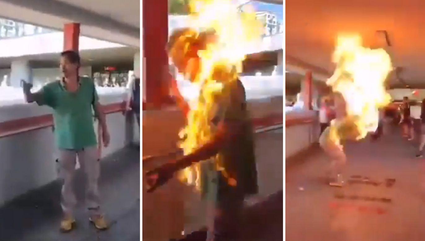 Hongkońskie media opisują dzisiejsze wydarzenia jako eskalację przemocy i chaos na ulicach byłej brytyjskiej kolonii (fot. Twitter/HuXijin_GT)