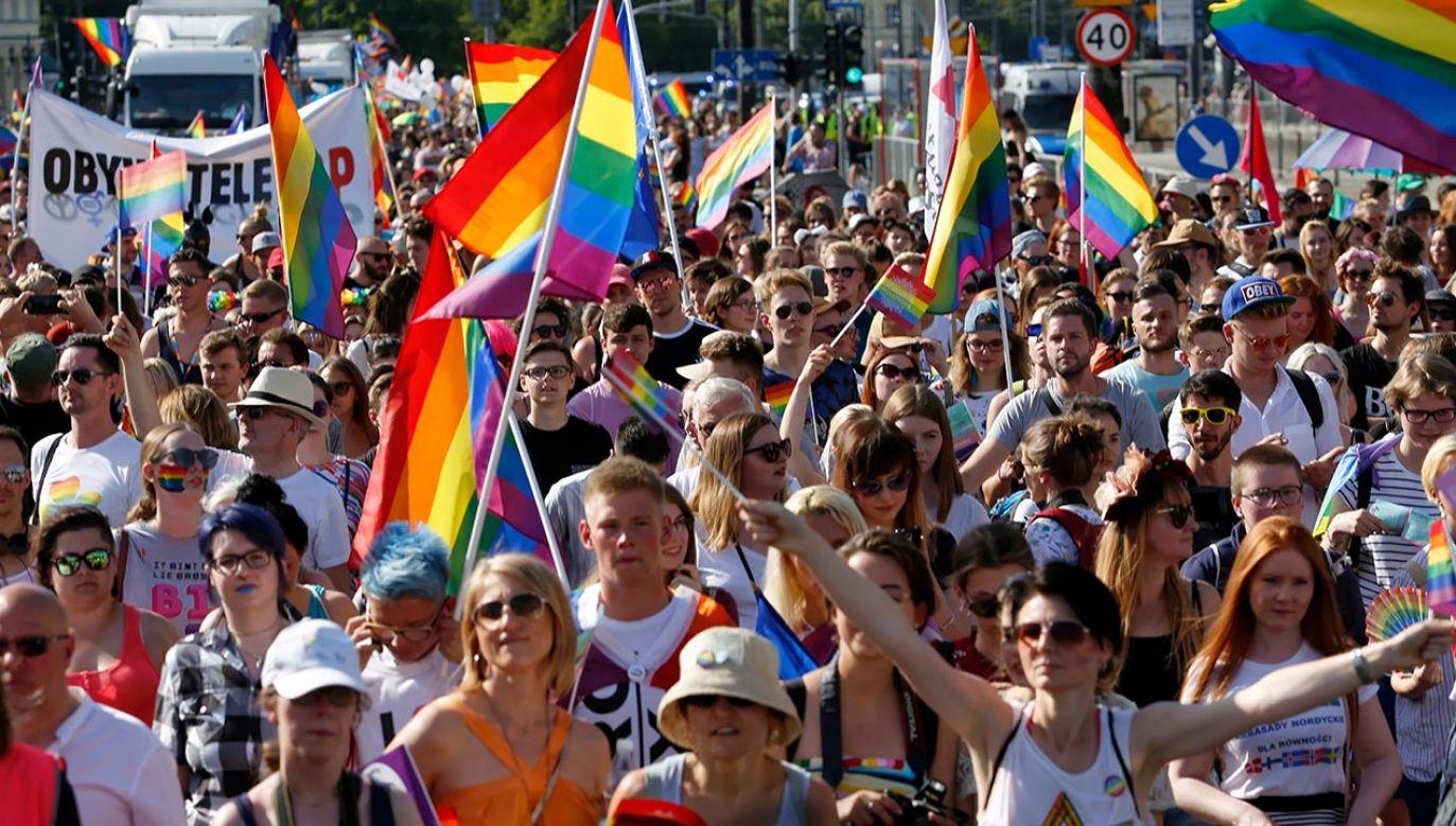 Do obrony ideologii LGBT posłużono się nawet ofiarami Zagłady (fot. PAP/Adam Guz)