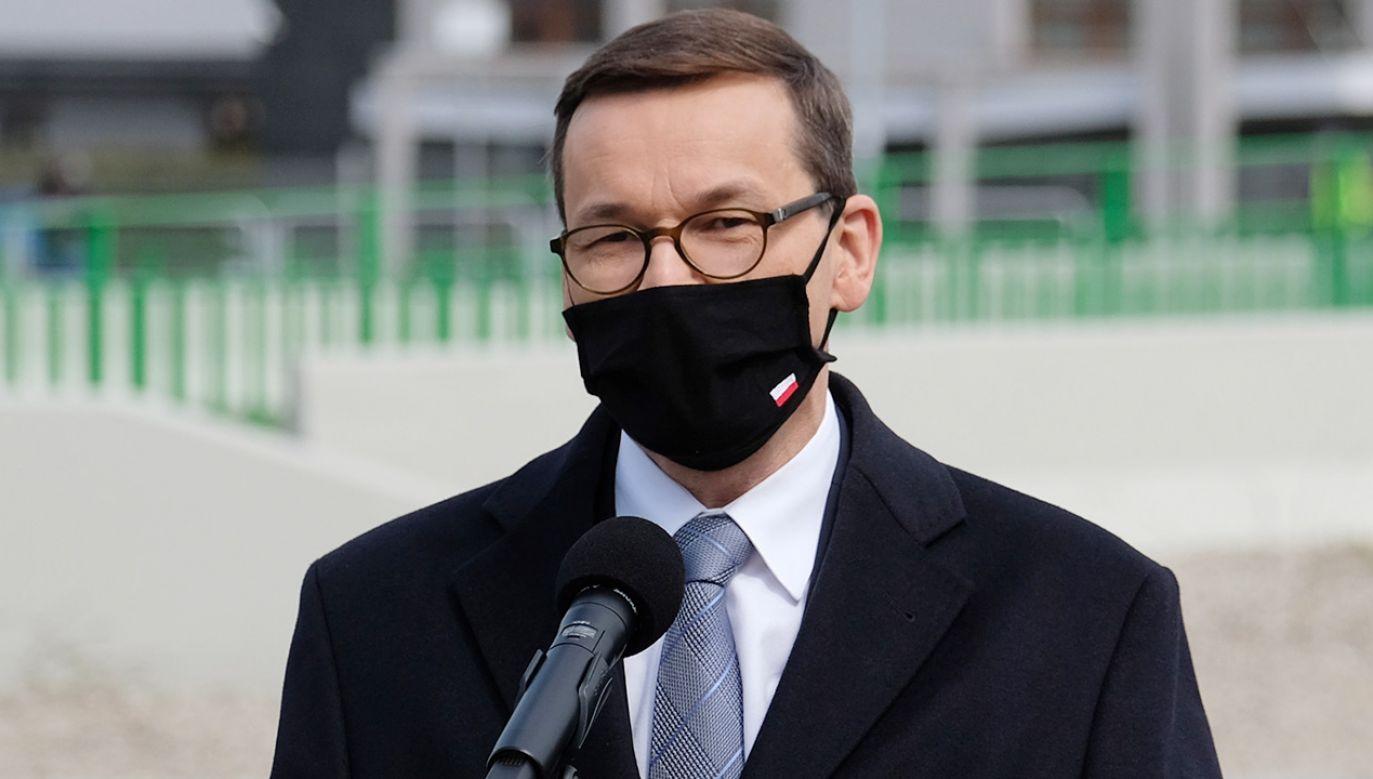 Premier Mateusz Morawiecki (fot.  PAP/Andrzej Grygiel)