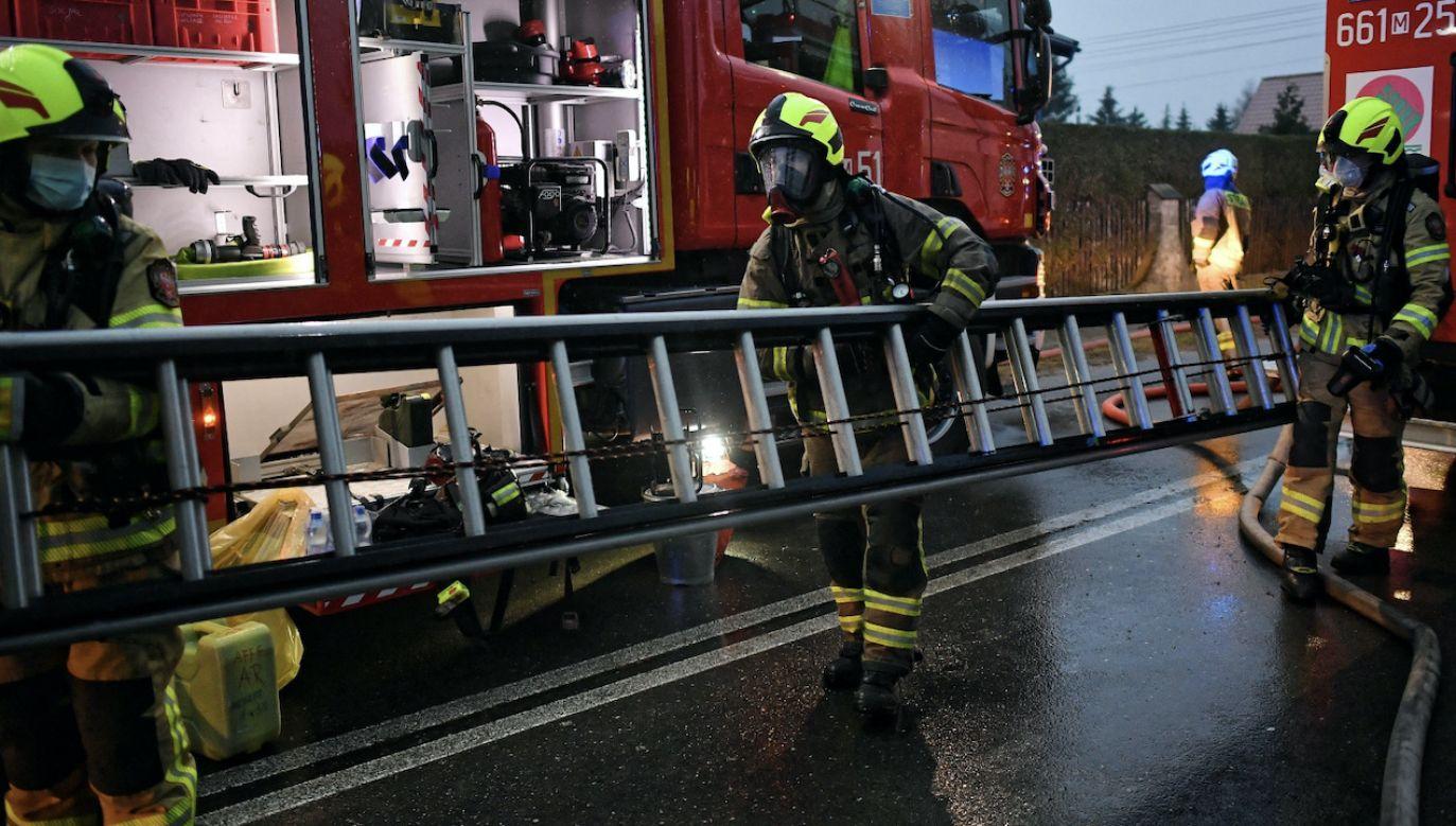 Kobiety nie udało się uratować (fot. PAP/Marcin Obara, zdjęcie ilustracyjne)