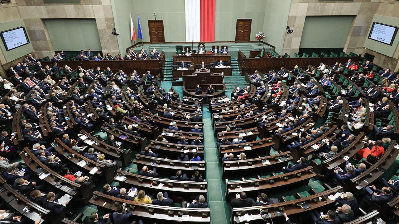 Razem z politykami Koalicji Obywatelskiej, PSL i Lewicy głosowali wszyscy obecni na sali posłowie Konfederacji (fot. arch. PAP/Paweł Supernak)