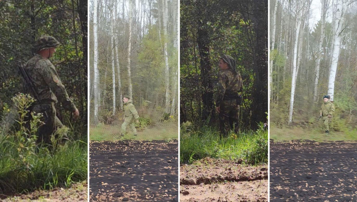 Straż Graniczna pokazała zdjęcia białoruskich żołnierzy (fot. Straż Graniczna)