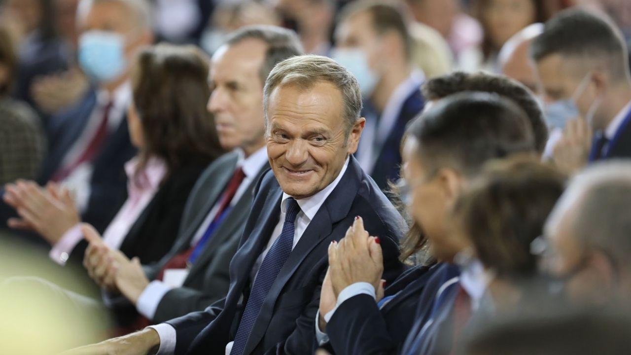 Donald Tusk wyznał, że był poruszony wiadomością od teściowej (fot. PAP/Wojciech Olkuśnik)