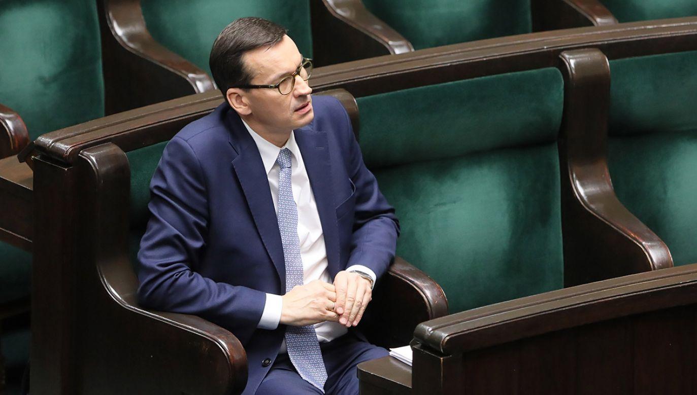Zdaniem polityków PiS-u w exposé premiera znalazło się wiele postulatów proekologicznych. (fot. PAP/Paweł Supernak)