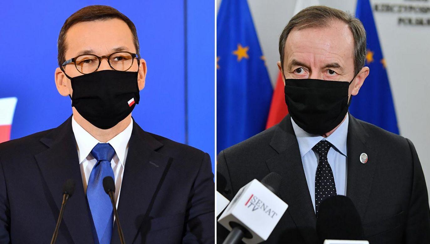 Premier apeluje do marszałka Sejmu (fot. PAP/Radek Pietruszka, Piotr Nowak)