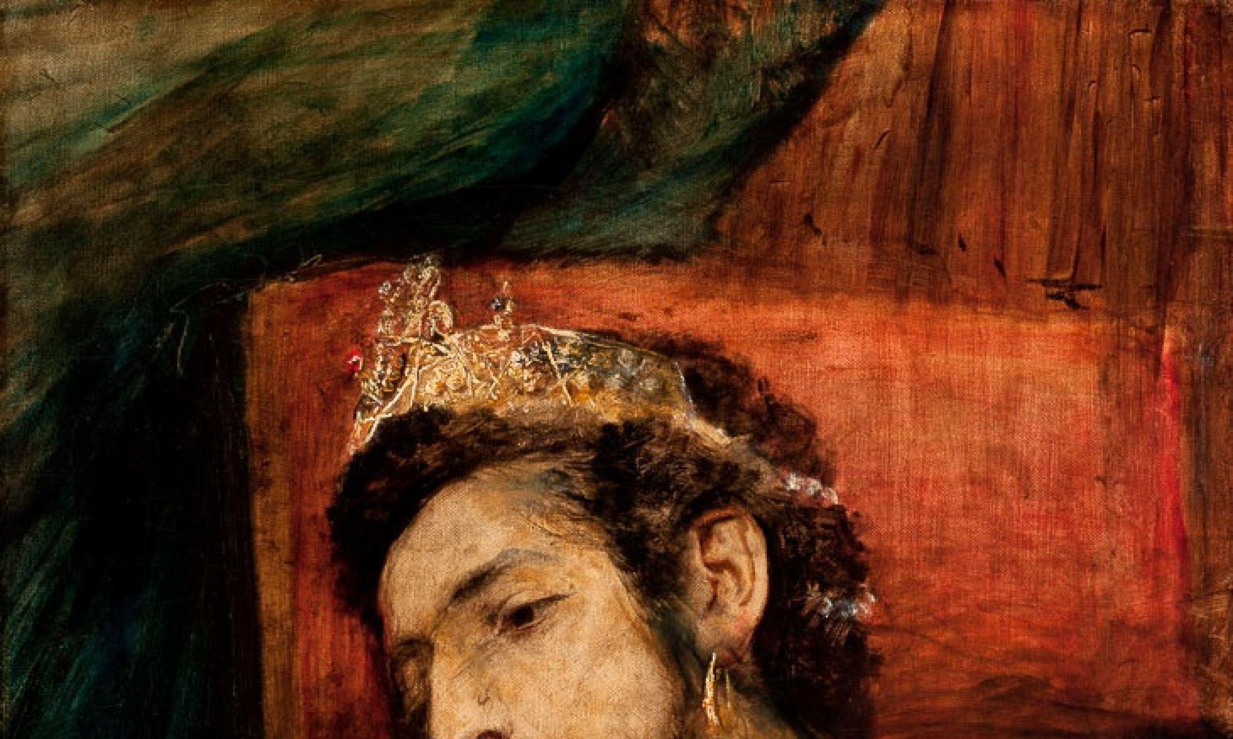 """""""Ahaswerus"""", piękny i młody biblijny król Persów, wyobrażony przez równie urodziwego i młodego Maurycego Gottlieba. Fot. Wikimedia"""