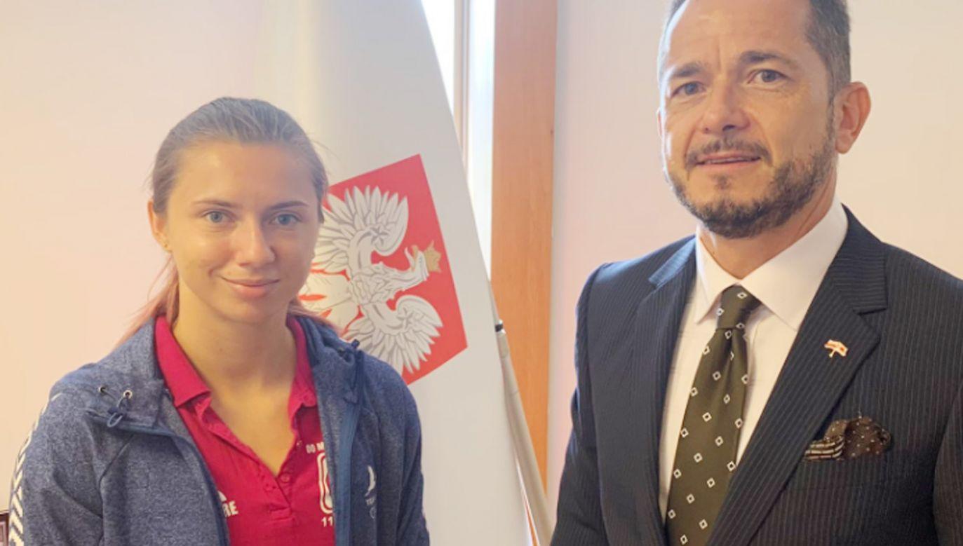 Kryscina Cimanouska (fot.TT/Paweł Milewski)