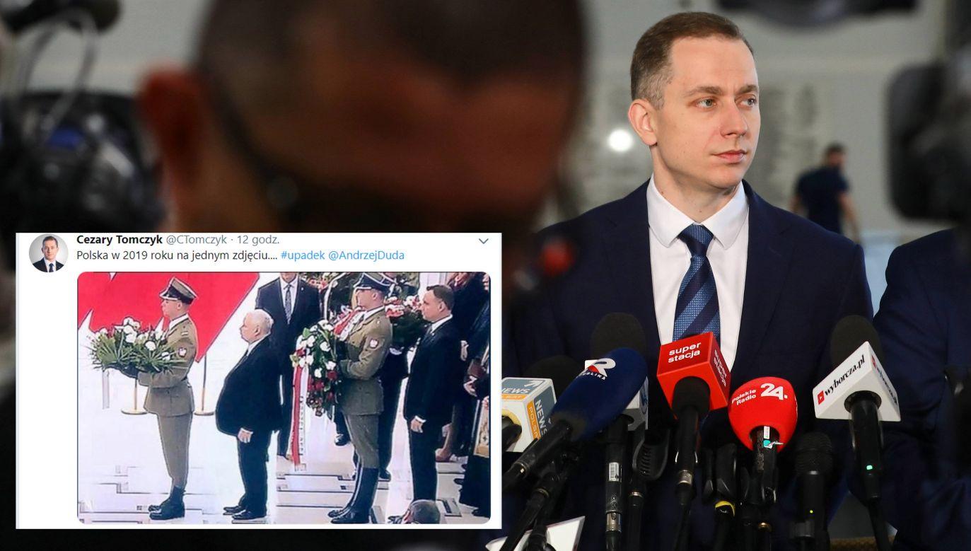 """""""Poseł Tomczyk to zwykły manipulator"""" (fot. arch.PAP/Rafał Guz/tt/@CTomczyk)"""