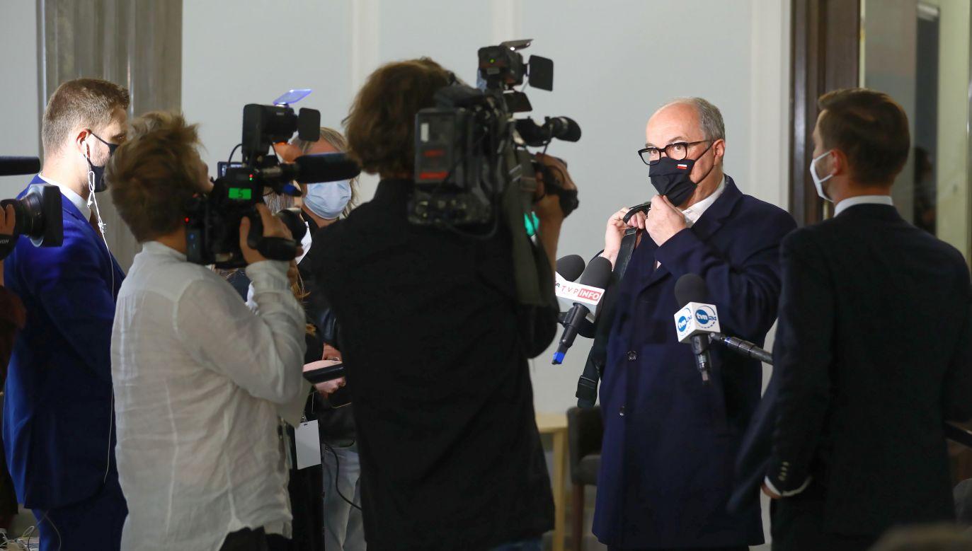 Krajowy Plan Odbudowy wywołał wiele emocji wśród dziennikarzy (fot. PAP/Rafał Guz)