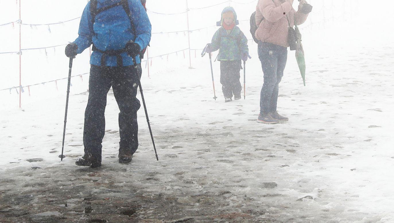 Śnieg w Tatrach (fot. arch.PAP/Grzegorz Momot)