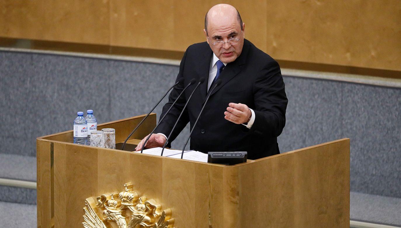 Nowy premier Rosji (fot. arch. PAP/EPA/YURI KOCHETKOV)