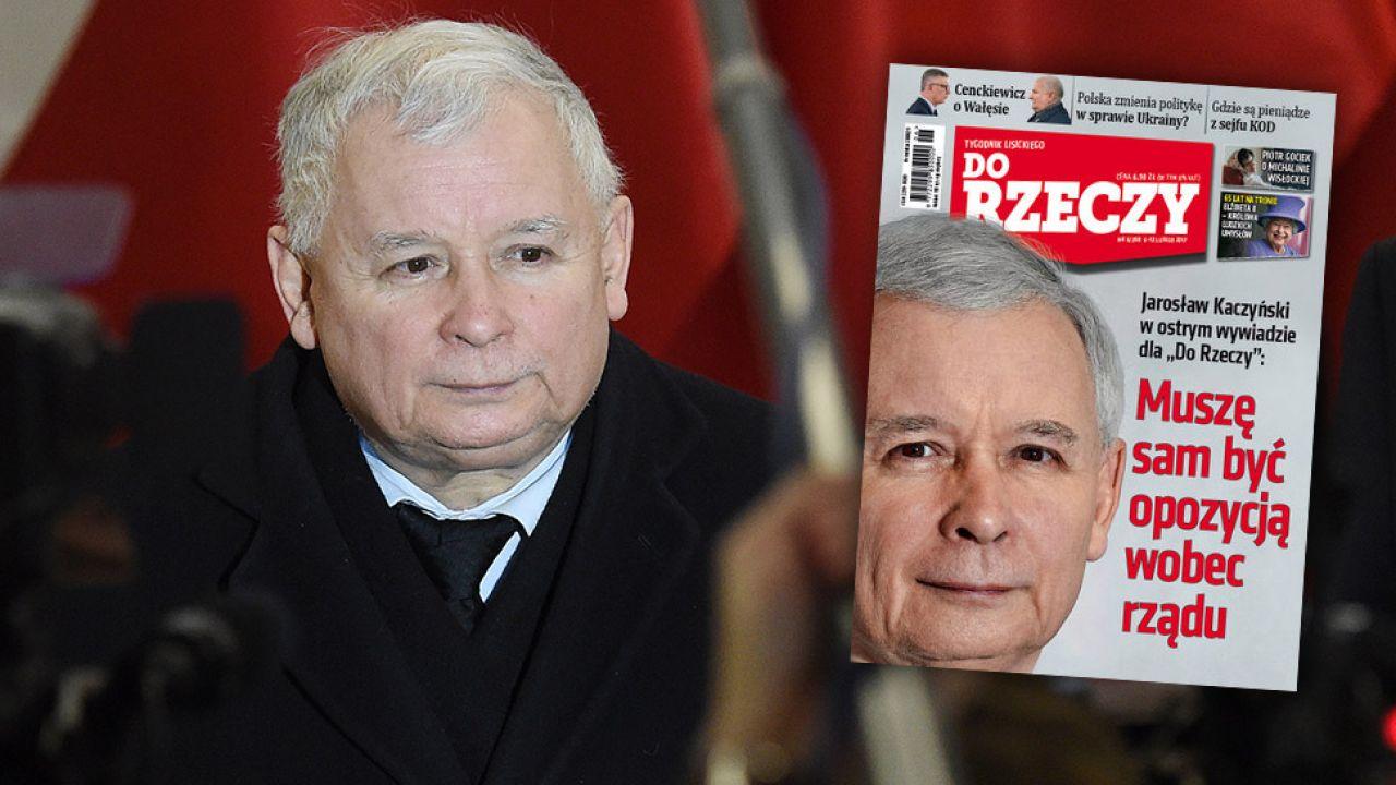 """Jarosław Kaczyński udzielił wywiadu tygodnikowi """"Do Rzeczy""""  (fot. PAP/Radek Pietruszka)"""
