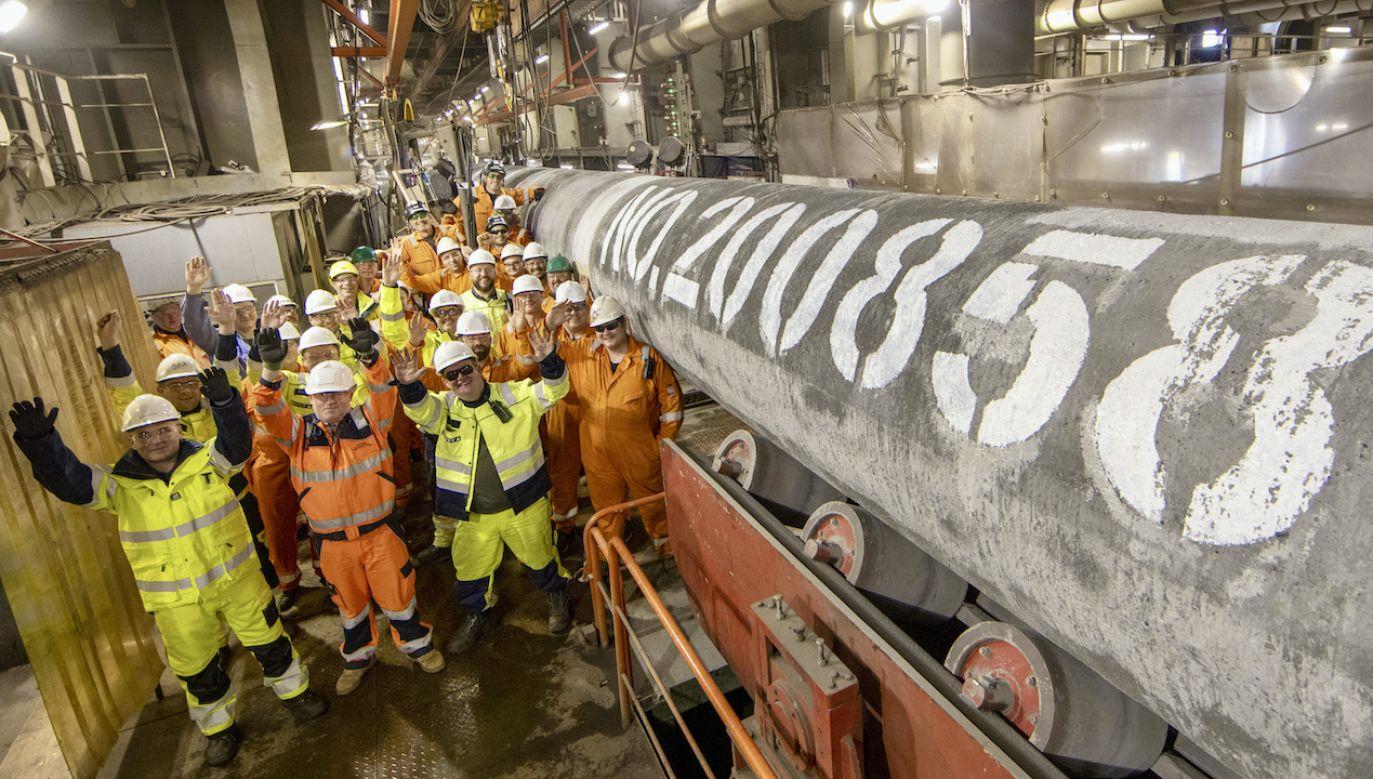 Prace przy układaniu rurociągu na dnie Bałtyku zakończyły się 6 września (fot. A.Schmidt/Nord Stream2/TASS/Forum)