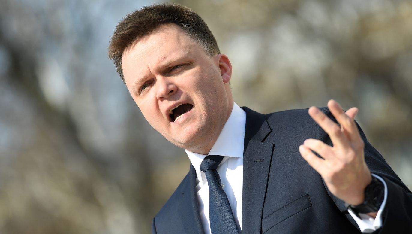 Szymon Hołownia uważa, że wybory prezydenckie w obliczu koronawirusa są nieuczciwe (fot. PAP/Piotr Nowak)