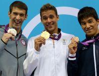 Medaliści 200 metrów motylkiem (fot. Getty Images)