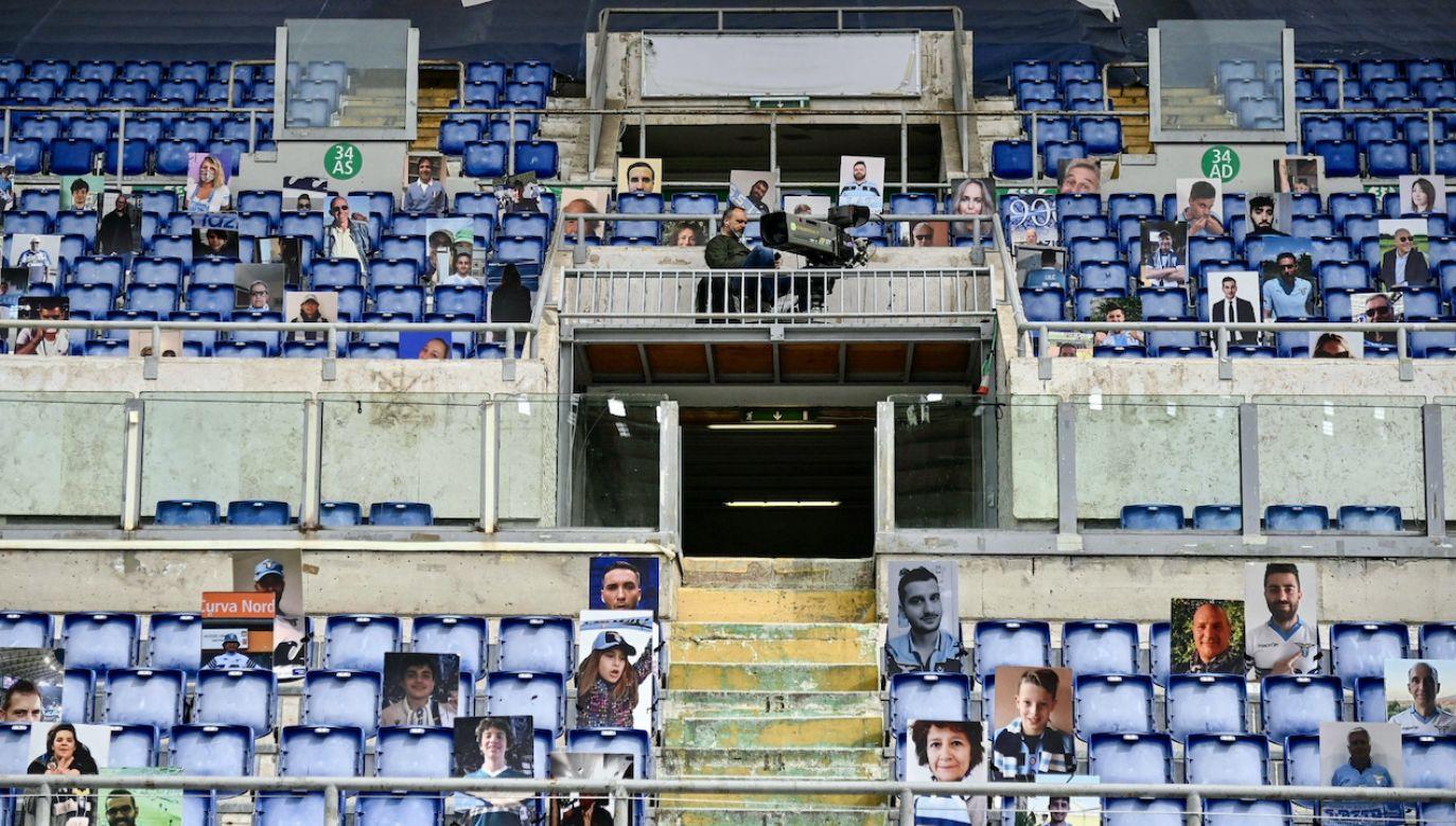 Na Stadion Olimpijski w Rzymie wejdzie ok 18 tysięcy kibiców (fot. PAP/EPA/RICCARDO ANTIMIANI)