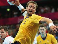 Atak Szweda Mattiasa Gustaffsona w wygranym meczu z Brytyjczykami (fot. Getty Images)