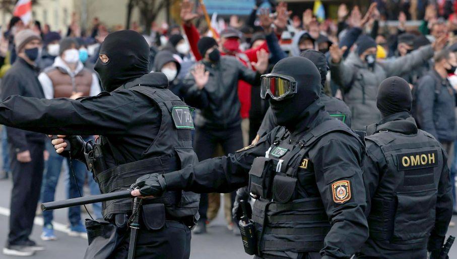 Według świadków użyto granatu hukowego (fot. Stringer\TASS via Getty Images)