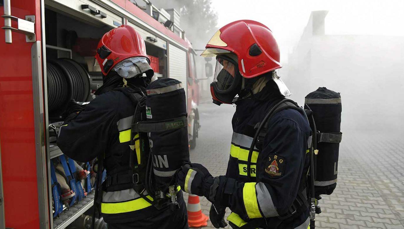 Przyczyna pożaru nie jest znana (fot. arch. PAP/Wojciech Pacewicz)