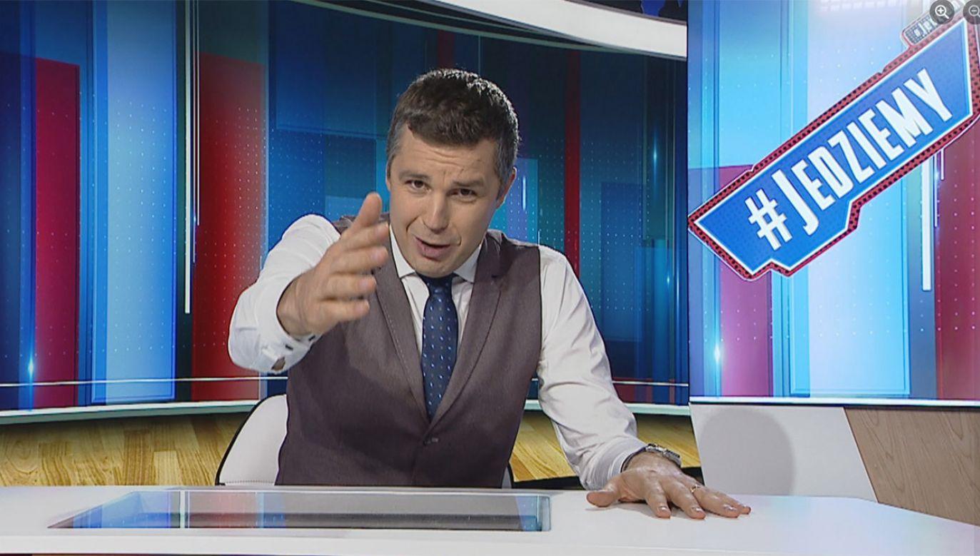Poranne programy Michała Rachonia zanotowały duży wzrost oglądalności (fot. Fb/Michał Rachoń: Jedziemy)