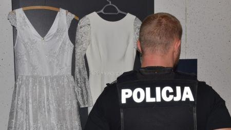 Ukradli sto sukien ślubnych, ale nie trafili przed ołtarz (fot. policja)
