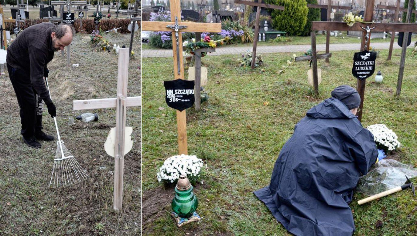 Akcja porządkowania bezimiennych grobów jest szczególnie ważna dla osób bezdomnych (fot. TT/@1Ragata)