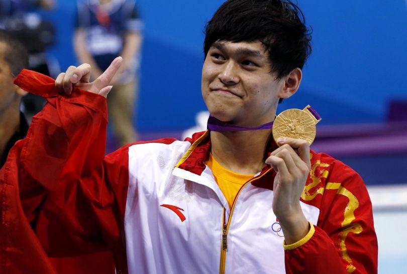 Chińczyk Sun Yang wygrał rywalizację na 1500 metrów stylem dowolnym i pobił rekord świata (fot. PAP/EPA)