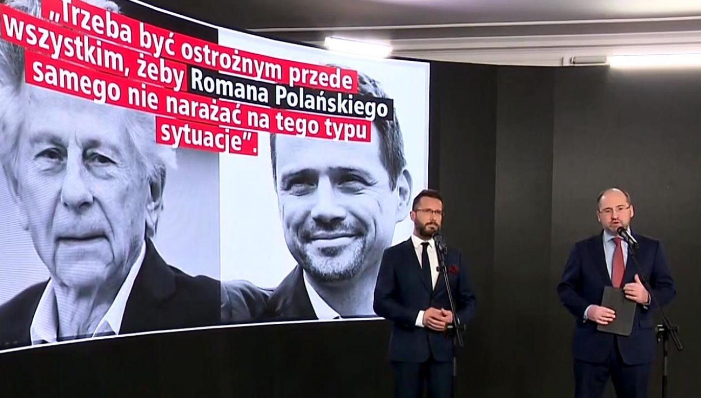 Bielan: Obrona Polańskiego to odpowiedź na pytanie dlaczego Trzaskowski nie głosował ws. rejestru pedofilów (fot. TVP Info)