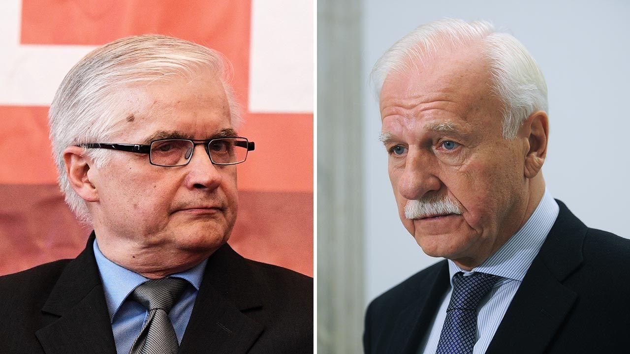 Włodzimierz Cimoszewicz i Andrzej Olechowski publicznie wykluczają z gry Platformę Obywatelską (fot. PAP/Radek Pietruszka; Forum/Adam Chelstowski)