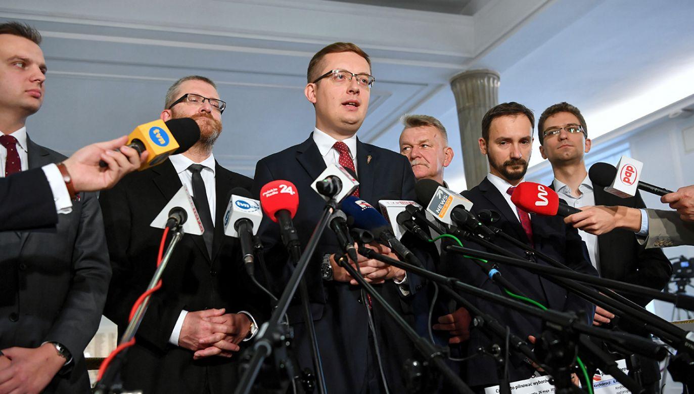 Elżbietę Witek poparło 314 posłów. Przeciw tylko Konfederacja (fot. arch.  PAP/Piotr Nowak)