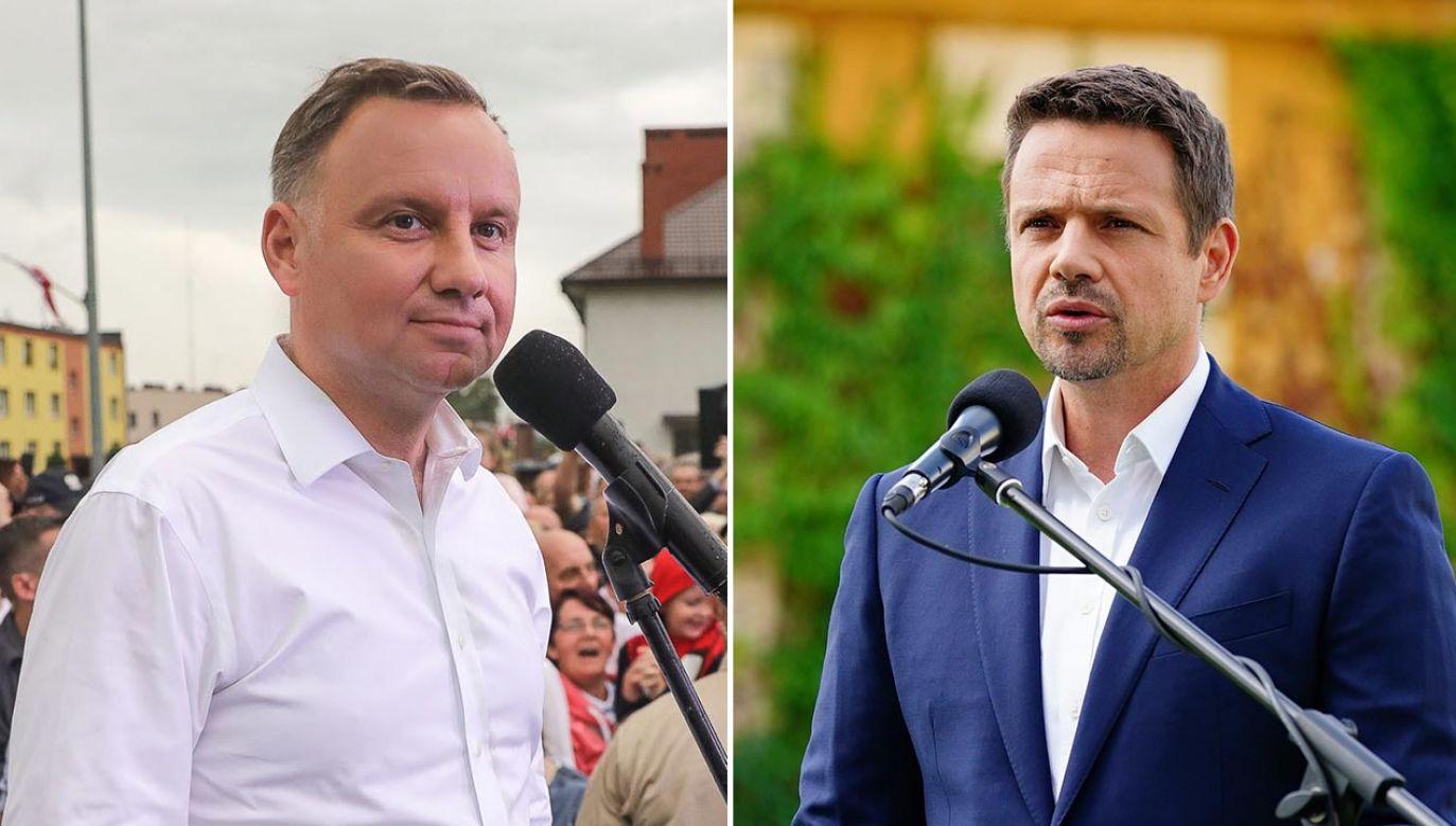 Andrzej Duda i Rafał Trzaskowski spotkają się w II turze wyborów prezydenckich 12 lipca (fot. Twitter/Duda2020; PAP/Mateusz Marek)