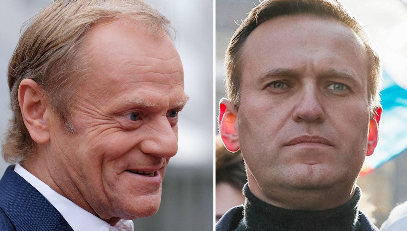 Donald Tusk o zatrzymaniu Aleksieja Nawalnego (fot. arch. PAP/EPA; REUTERS/Shamil Zhumatov)