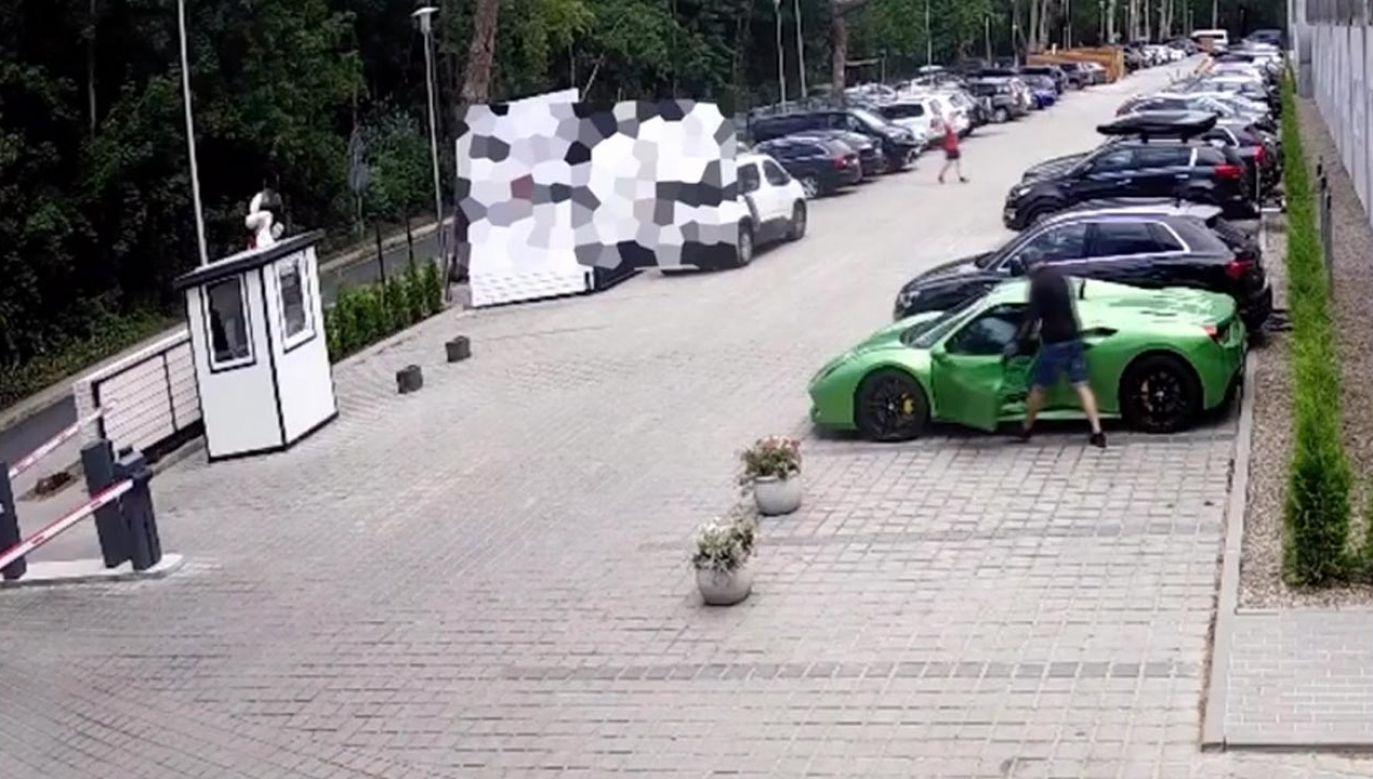 Samochód tego samego dnia wyjechał z Polski (fot. portal tvp.info)